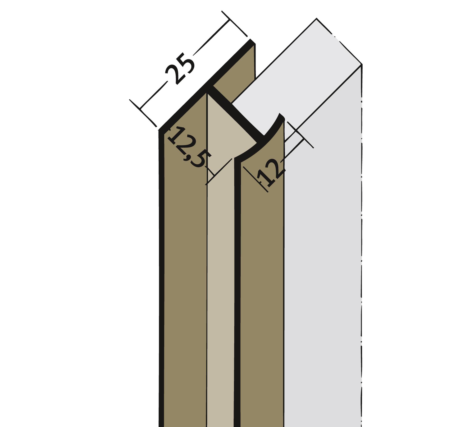 protektor doppel t profil 3548 pvc wei 2500 mm. Black Bedroom Furniture Sets. Home Design Ideas